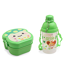 Lunch Box And Water Bottle Set Green - 360 Ml