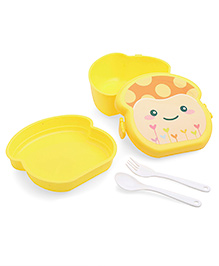 Lunch Box And Water Bottle Set Yellow (Print May Vary) - 360 Ml