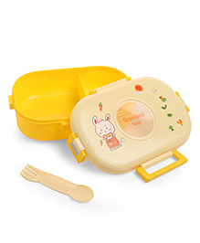 Baby Lunch Box With Spoon - Yellow
