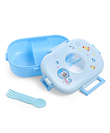 Baby Lunch Box With Spoon - Blue
