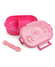 Baby Lunch Box With Spoon - Pink