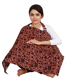 Lulamom Feeding & Nursing Cover Floral Print - Brown