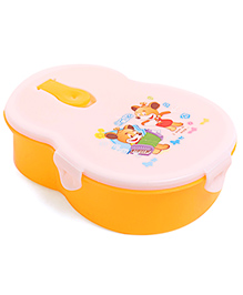 Lunch Box With Spoon - White Yellow