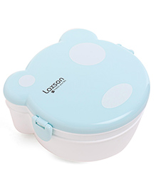 Polka Dot Clip Lock Lunch Box - White Sea Green