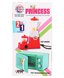 Ratnas Princess Kitchen Appliances Toy 2 In 1 Combo - Red Green