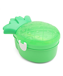 Pineapple Shaped Lunch Box With Spoon - Green