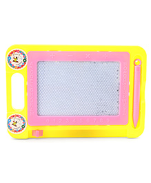 Alphabet And Numeric Print Baby Drawing Board And Pen - Yellow