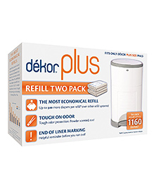 Diaper Dekor Plus Pack 2 Refills - White