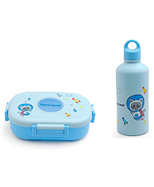 Lunch Box And Water Bottle  - Blue