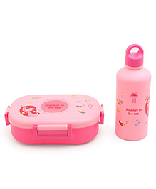 Lunch Box And Water Bottle - Pink