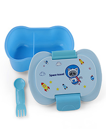 Lunch Box With Fork - Sky Blue