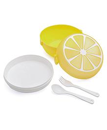 Lunch Box Fruit Design - Yellow