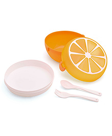 Lunch Box Fruit Design - Orange