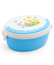 Lunch Box With Spoon - White & Blue