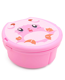 Round Lunch Box With Spoon & Fork - Pink