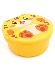 Round Lunch Box With Spoon & Fork - Yellow