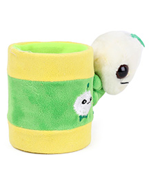 Pencil Stand With Animal Motif - Green Yellow