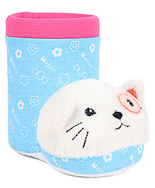 Shoe Shape Pencil Stand With Kitty Motif - Blue