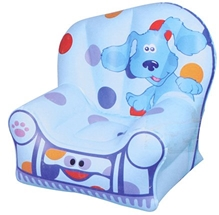 Toyzone - Cute Doggy Print Chair Blue