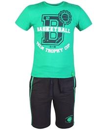 Palm Tree - Half Sleeves T-Shirt And Bermuda Set