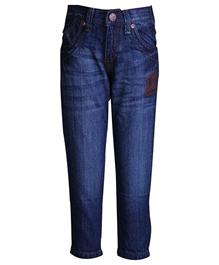 Palm Tree - Stone Wash Denim Jeans