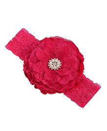 Akinos Kids Lace Flower Lace Headband - Pink