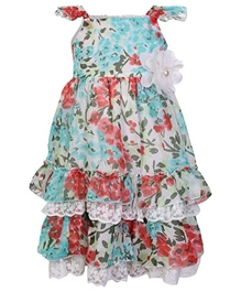 Gini & Jony - Sleeveless Floral Print Cotton Frock