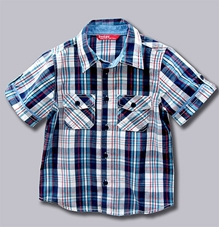 Beebay - Blue Checks Shirt With Two Pockets