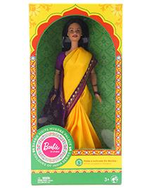 Barbie In India Fashion Doll Mysore Theme With DIY Kit Yellow - 30 Cm