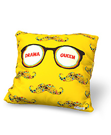 Baby Oodles Cushion With Inner Filler Drama Queen Print - Yellow