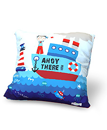 Baby Oodles Cushion With Inner Filler Lil Sailor Print - Blue