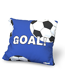 Baby Oodles Cushion With Inner Filler Football Print - Blue
