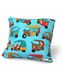 Baby Oodles Cushion With Inner Filler Auto Print - Blue