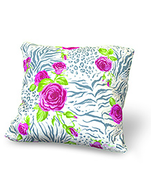 Baby Oodles Cushion With Inner Filler Flower Print - Multi Color