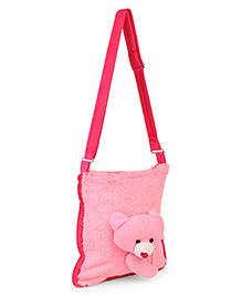 IR Sling Bag Bear Design Pink - 10.4 Inches