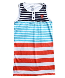 Super Young - Sleeveless Stripes Top