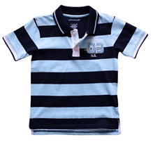 Super Young - Collar Neck T-Shirt With Stripes
