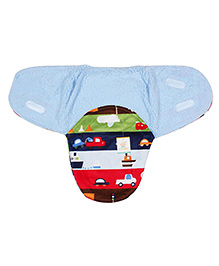Ole Baby Swaddle Blanket Cars & Boat Print - Multi Color