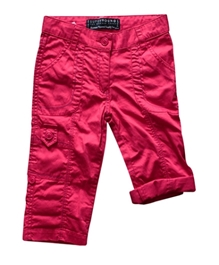 Super Young - Pink Capri With Knee Pocket