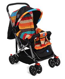 Mee Mee Pram Cum Stroller With Reversible Handle - Multi Color