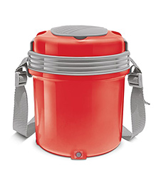 Milton Electron Electric Lunch Pack With 3 Stainless Steel Container Red - 360 Ml Each
