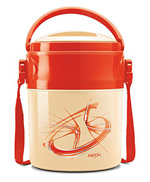 Milton Odyssey Deluxe Airtight Insulated Lunch Box With 3 Steel Containers - Red