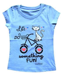 Super Young - Cat And Cycle Print T Shirt