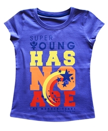 Super Young - Short Sleeves Message Print T-Shirt