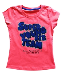 Super Young - Short Sleeves Message Print T Shirt