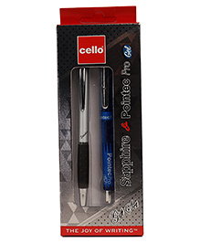 Cello Sapphire Ball Pen & Pointec Pro Gel Pen - Blue