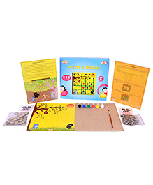 Desi Toys DIY Dots & Boxes Strategy Board Game - Multi Color