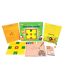 Desi Toys DIY Chauka Bara Strategy Board Game - Multi Color