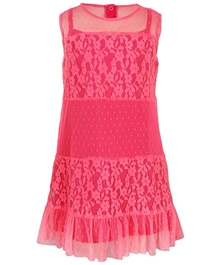 Quarter Spoon - Sleeveless Dress With Lace And Frill