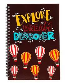 The Crazy Me Explore Dream Discover Print Notebook A5 Size - Dark Brown